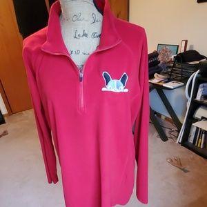 DDX Dri•Duck red fleece half zip pullover size 2XL